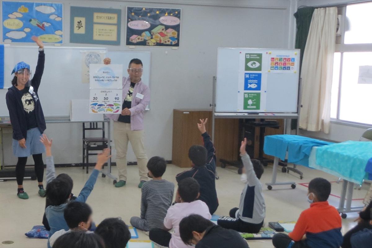 八千代市立高津小学校で 海の環境学習教室を行いました